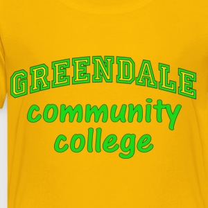 Yellow Greendale Community College Kids' Shirts - Toddler Premium T-Shirt