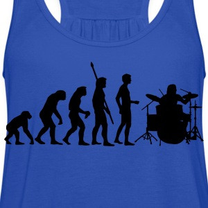 Turquoise evolution_drummer_1c Kids' Shirts - Women's Flowy Tank Top by Bella