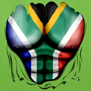South Africa Flag Ripped Muscles, six pack, chest t-shirt - Tote Bag