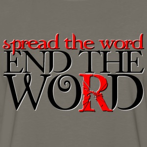 End the Word - Men's Premium Long Sleeve T-Shirt