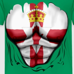 Northern Ireland Flag Ripped Muscles, six pack, chest t-shirt - Toddler Premium T-Shirt