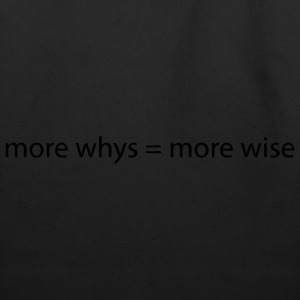 whys wise T-Shirts - Eco-Friendly Cotton Tote