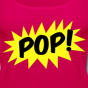 pop! on a star comic T-Shirts - Women's Premium Tank Top