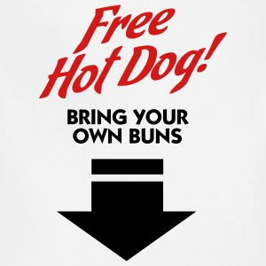 Free Hot Dog (2c) T-Shirts - Adjustable Apron