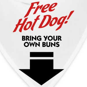 Free Hot Dog (2c) T-Shirts - Bandana