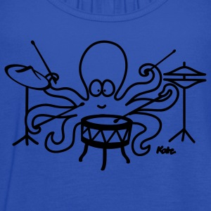 Royal blue  Octopus drummer Kids' Shirts - Women's Flowy Tank Top by Bella