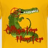 Yellow Alligator Hunter Kids' Shirts - Kids' Premium T-Shirt