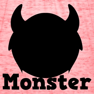 monster with horns Kids' Shirts - Women's Flowy Tank Top by Bella