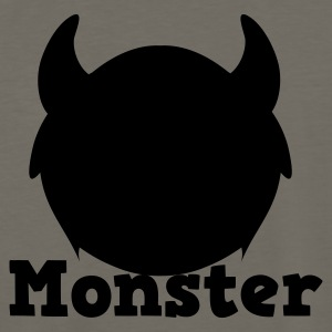 monster with horns Kids' Shirts - Men's Premium Long Sleeve T-Shirt