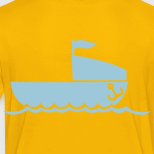 simple boat with anchor and waves NAVY Kids' Shirts - Toddler Premium T-Shirt