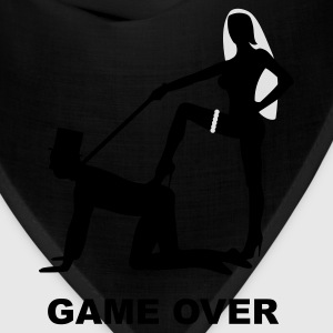 game over marriage matrimory wedlock fog haze double heiht heyday nuptials wedding zenith dominatrix lash whip slave bondman sex T-Shirts - Bandana
