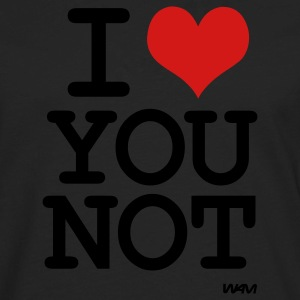 i love you not by wam T-Shirts - Men's Premium Long Sleeve T-Shirt