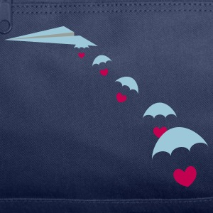 Paper Plane with Skydiver Hearts T-Shirts - Duffel Bag