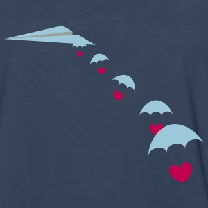 Paper Plane with Skydiver Hearts T-Shirts - Men's Premium Long Sleeve T-Shirt