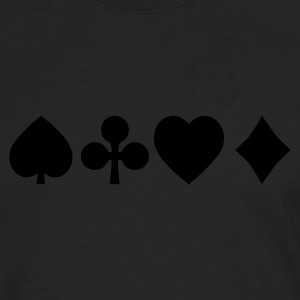 Spades diamond cross heart - card deck T-Shirts - Men's Premium Long Sleeve T-Shirt