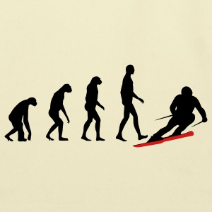 evolution ski T-Shirts - Eco-Friendly Cotton Tote