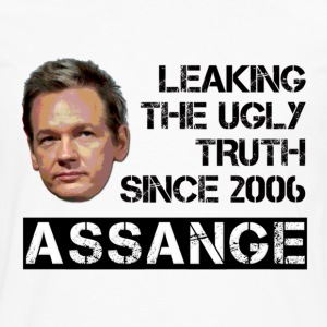 Assange Ugly Truth Wikileaks T-Shirts - Men's Premium Long Sleeve T-Shirt