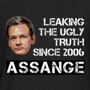 Assange Ugly Truth Wikileaks For Dark T-Shirts - Men's Premium Long Sleeve T-Shirt