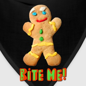 Bite Me Gingerbread Man Kids' Shirts - Bandana