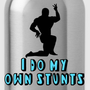 Bodybuilder I Do My Own Stunts Kids' Shirts - Water Bottle