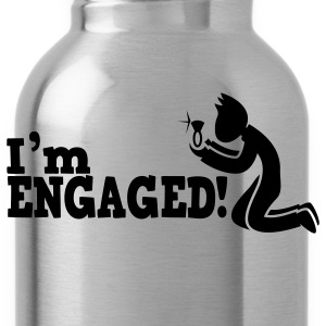 man on bended knee im engaged!  T-Shirts - Water Bottle