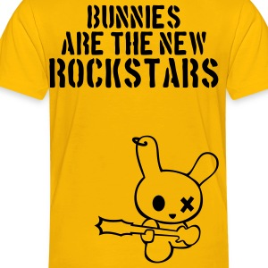 Rockstar bunny bunnies hare rabbit rock music cony leveret bimbo guitar grunge bass sound easter earring Kids' Shirts - Toddler Premium T-Shirt