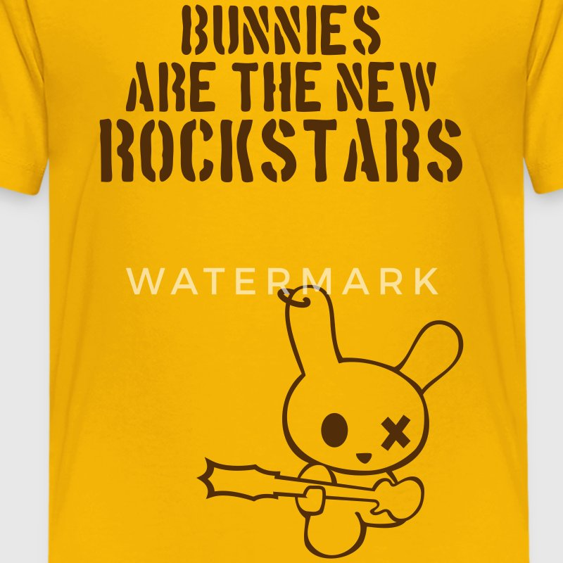 Rockstar bunny bunnies hare rabbit rock music cony leveret bimbo guitar grunge bass sound easter earring Kids' Shirts - Kids' Premium T-Shirt