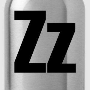 Zz Helvetica Alphabet T-Shirts - Water Bottle