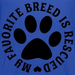 My Favorite Breed Is Rescued - Women's Flowy Tank Top by Bella