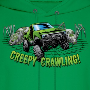 Creepy Truck Crawler blk web Kids' Shirts - Men's Hoodie