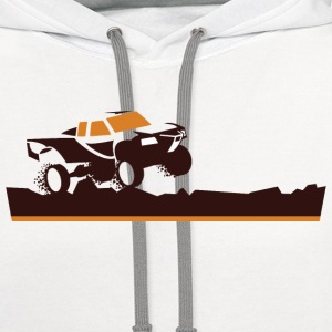 Race Truck Mud Run T-Shirts - Contrast Hoodie
