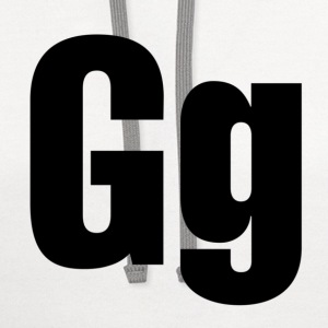 Gg T-Shirts - Contrast Hoodie