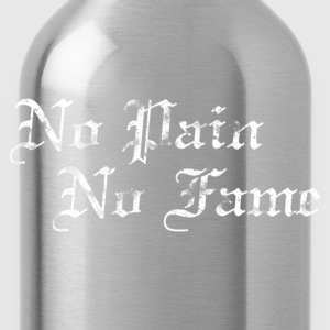 Basketball Slogan No Pain No Fame Used Look Retro  - Water Bottle