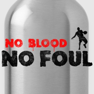 Basketball Slogan No Blood No Foul Used Look Retro - Water Bottle