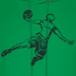 Basketball Dunk Used Look Retro T-Shirts - Men's Hoodie