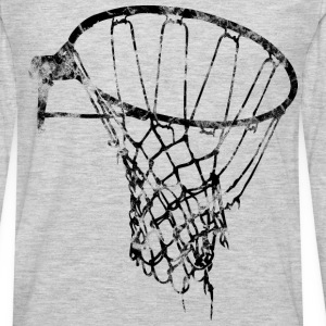 Basketball Net Used Look Retro T-Shirts - Men's Premium Long Sleeve T-Shirt