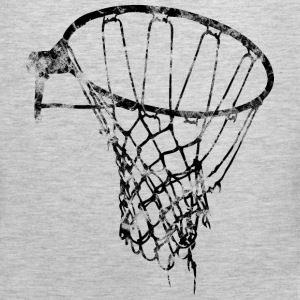 Basketball Net Used Look Retro T-Shirts - Men's Premium Tank