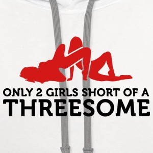 Two Girls Short (2c) T-Shirts - Contrast Hoodie