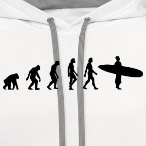 Surfing Evolution 3 (1c) T-Shirts - Contrast Hoodie