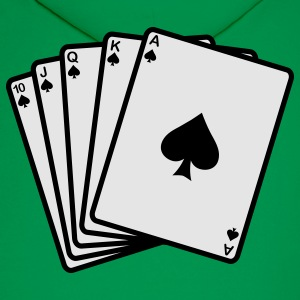 Poker Royal Flash T-Shirts - Men's Hoodie