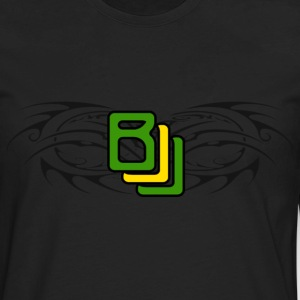 BJJ Tribal with Brazilian Colors - Men's Premium Long Sleeve T-Shirt