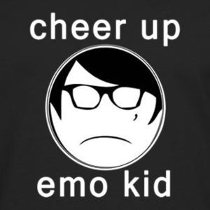 Cheer Up Emo Kid - Men's Premium Long Sleeve T-Shirt