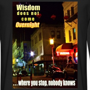 Overnight Wisdom T-shirt - Men's Premium Long Sleeve T-Shirt