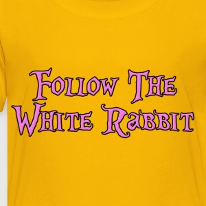 Follow The White Rabbit Kids' Shirts - Toddler Premium T-Shirt