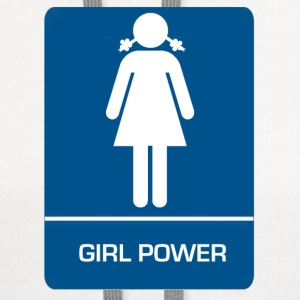 Girl power restroom T shirt - Contrast Hoodie
