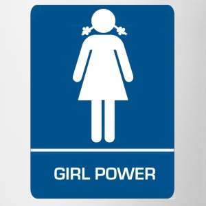 Girl power restroom T shirt - Coffee/Tea Mug