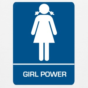 Girl power restroom T shirt - Men's Premium Tank