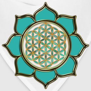 FLOWER OF LIFE - lotus ocean green | men's 3XL shi - Bandana