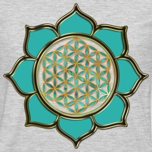 FLOWER OF LIFE - lotus ocean green | men's 3XL shi - Men's Premium Long Sleeve T-Shirt