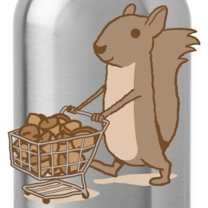 Squirrel Grocery Shopping T-shirt - Water Bottle